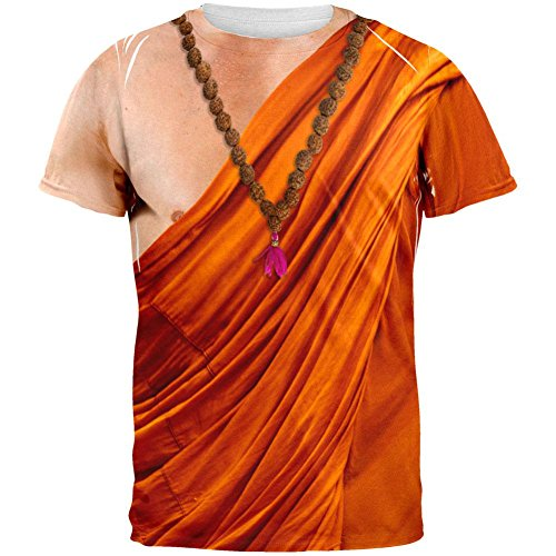 Halloween Buddhist Monk Costume All Over Adult T-Shirt - Medium