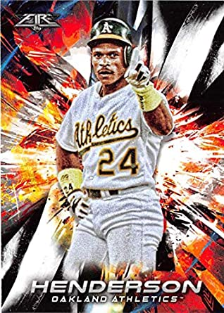 2018 Topps Fire Baseball  37 Rickey Henderson Oakland Athletics Target  Exclusive MLB Trading Card 620974156