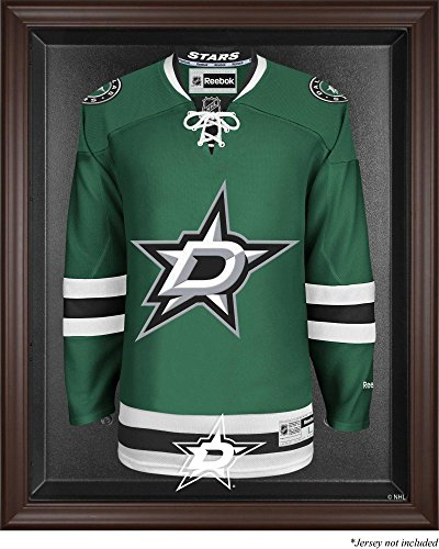 Dallas Stars Brown Framed Logo Jersey Display Case - Logo Display Browns Case
