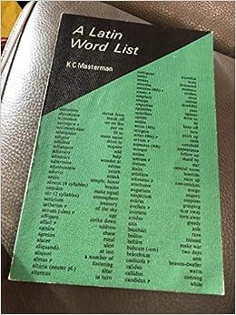 A Latin Word List Amazon Com Books