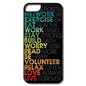 IPhone 5 5s Case Shell Motivational - Custom Your Own Cartoon IPhone 5 5s Skin For Family