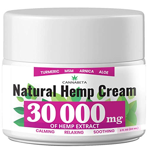 Organic Hemp Pain Reliever, 30 000 Mg, Non-GMO, Natural Hemp Extract for Joint, Muscle, Back, Neck, Knee Pain, Made in USA