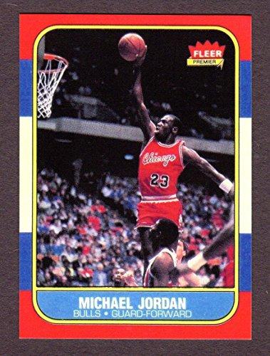 Michael Jordan 1986 Fleer Basketball Rookie Reprint Card (Chicago) (1986 Rookie Card)