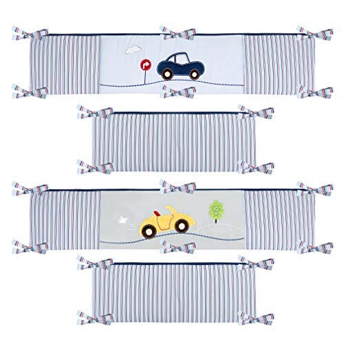 Laugh Giggle & Smile My Little Town 4 Piece Bumper Pad Set