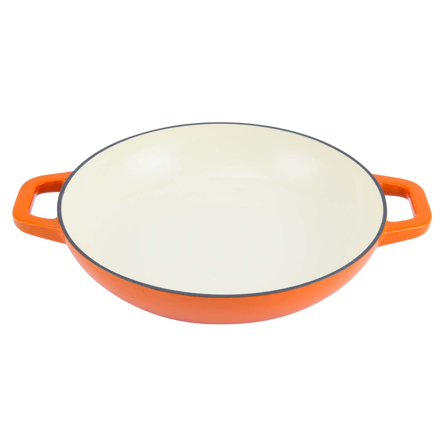 Slow Cooking Tangerine Orange ZEL-CD-ORG Perfect for Braising Simmering and Baking Zelancio Cookware 3-Quart Enameled Cast Iron Casserole Dish with lid