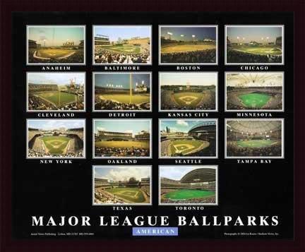 Major League Ballparks - American League, Art Poster by Ira Rosen