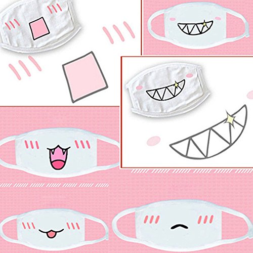 Quietcloud Face Mouth Mask, Lovely Anime Kawaii Mouth-Muffle Smile Grin Kaomoji Anti-dust Cotton Face Mask - #9 Miao by Quietcloud (Image #1)