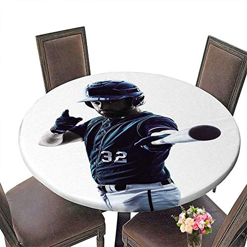 - PINAFORE The Round Table one caucasian Man Baseball Player Playing in Studio Silhouette Isolated on White for Birthday Party, Graduation Party 35.5
