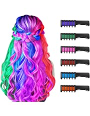 New Hair Chalk Comb Temporary Bright Hair Color Dye for Girls Kids, Washable Hair Chalk for Girls Age 4 5 6 7 8 9 10 New Year Birthday Party Cosplay DIY Children's Day, Halloween, Christmas