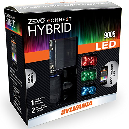 SYLVANIA 9005 ZEVO Connect Hybrid LED Color Changing System for (Ext Run Time Battery)