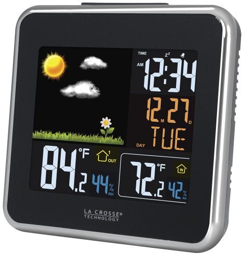 La Crosse Technology 308A-146 Negro, Color blanco digital weather station - Estación meteorológica (AA, Alcalino, 2...