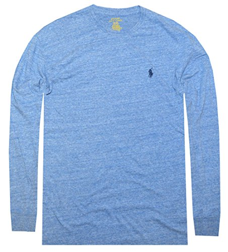 Polo Ralph Lauren Men's Long Sleeve Pony Logo T-Shirt - X-Large - Blue (Winter Crew Shirt)