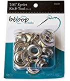 """bbloop® Eyelet Kit w/ Tool. Extra Large Grommet Set 7/16"""" dia. Count of 10"""