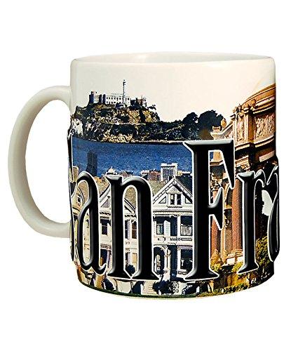 (Americaware SMSFN02 San Francisco 18 oz Full Color Relief Mug)