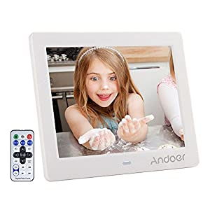 Digital Photo Frame 8 inch, Andoer HD Wide Screen High Resolution with Remote Control Electronic Picture Frames(8 inch…