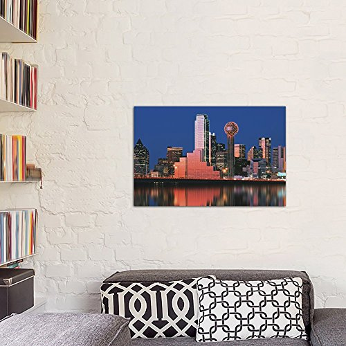60 x 40//1.5 Deep Texas USA Canvas Print by Panoramic Images Dallas iCanvasART 3 Piece Reflection of Skyscrapers in a Lake Digital Composite