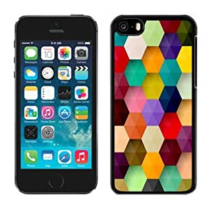 New Personalized Custom Designed For iPhone 5C Phone Case For Colorful Hexagons Pattern Phone Case Cover