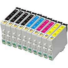 Ink & Toner Geek ® - 10 Pack Remanufactured Replacement Inkjet Cartridges for Epson T060 60 #60 (T060120, T060220, T060320, T060420) For Use With Epson Stylus C68 Stylus C88 Stylus C88Plus Stylus CX3800 Stylus CX3810 Stylus CX4200 Stylus CX4800