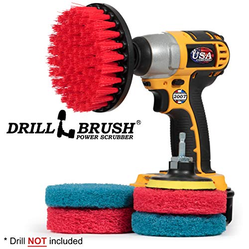 Drill Brush – Cleaning Supplies – Indoor – Bathroom Accessories – Tile – Grout Cleaner – Shower Cleaner – Bathtub – Bath…