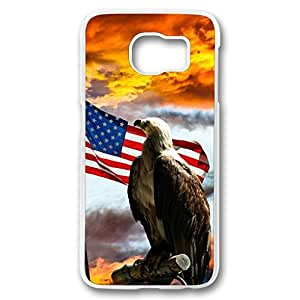 iCustomonline Case for Samsung galaxy S6 PC, The American Flag Stylish Durable Case for Samsung galaxy S6 PC