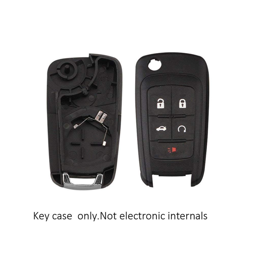 Heart Horse 5 Button Keyless Entry Remote for Camaro Cruze Equinox Malibu Sonic Spark Volt No Chip 2010-2013 HuihuangAMZus sku1393