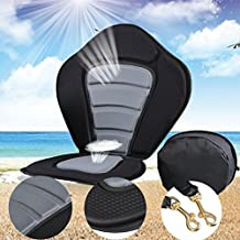 Kayak Seats, Tomasar Adjustable Padded Deluxe Kayak Cushion Boat Seat With Backrest - Black Gray ( US Stock)