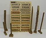 1 35 diorama set - Reality In Scale 1:35 WWII Wooden SIgns German Set 1 22 Signs Real Wood #35227