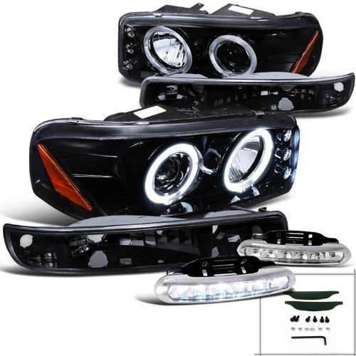 05 gmc sierra halo headlights - 5