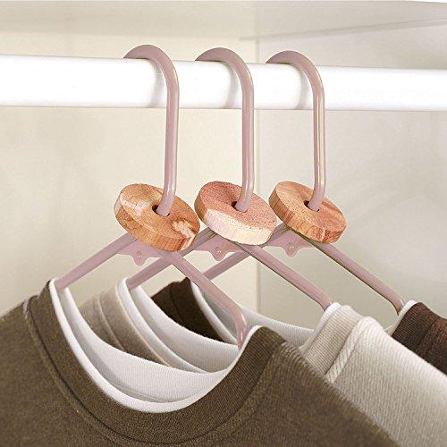 ACMETOP Aromatic Cedar Blocks for Clothes Storage, 100% Natural Cedar Balls Hangers, Storage Accessories Closets & Drawers (30 Pack)