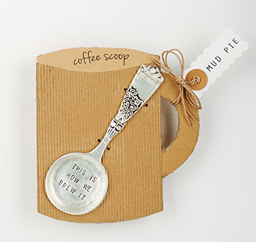 Mud Pie Brew it Coffee Scoop, Silver