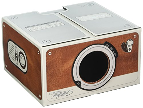Smartphone Projector 2.0, Portable Phone Projector, Brown - Luckies of London by Luckies of London Ltd