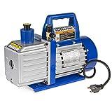 XtremepowerUS 1/2HP 2-Stage Vane Vacuum Pump (5 CFM) Air Conditioner Refrigeration HVAC Air AC A/C R410a R134