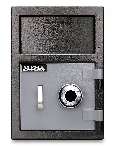 Mesa-Safe-MFL2014C-All-Steel-Depository-Safe-with-Combination-Lock-08-Cubic-Feet-BlackGrey