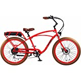 "Pedego Interceptor 26"" Classic Neon Orange with Brown Balloon Package 48V 15Ah"