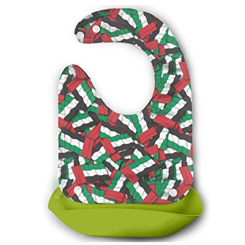 KUYTZDCUTE UAE Flag Pattern Baby Bibs Waterproof for Babies and Toddlers Easily Wipes Clean Comfortable Soft