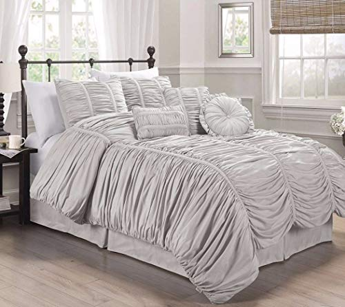 Collection Textured Comforter Set Color Gray Size King from Unknown