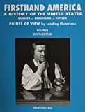 Firsthand America : A History of the United States, Burner, David and Bernhard, Virginia, 1933385022