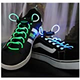 SODIAL(R) Led Eclaire Clignotant Lacets Scintillant - Multi-Color LED Lacets Clignotent Allumage de la Nuit Pour Partie Hip-hop danse