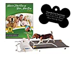 GoPet Petrun Indoor Exercise Treadmill for Dogs Up to 132 Pounds (Model #: PR-720F) with FREE Custom Bone Shaped Dog Tag and E-Book
