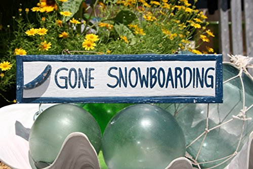 TikiMaster GONE SNOWBOARDING NAUTICAL SIGN 12