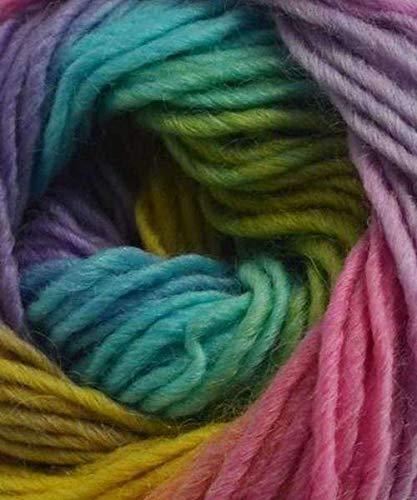 (Plymouth Gina Yarn: Purple, Pink, Aqua 19)