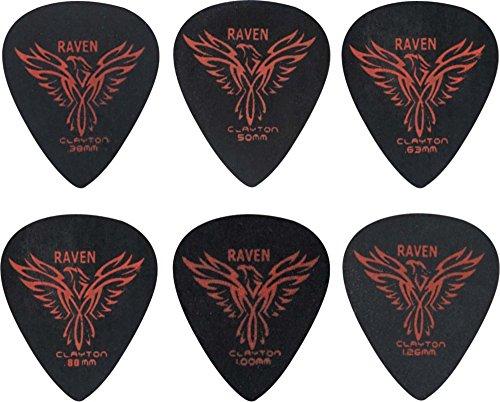 Clayton Black Raven Standard Guitar Picks .50 mm 1 Dozen
