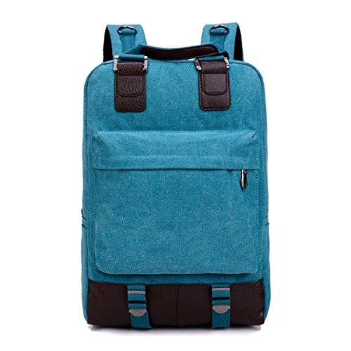 Mochila De Blue Bolsa Moda Lona Ocio Viajes De wBxnBgr4qF