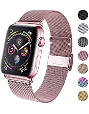 GBPOOT Compatible for Apple Watch Band 38mm 40mm 42mm 44mm, Wristband Loop Replacement Band for Iwatch Series 4,Series 3,Series 2,Series 1-Gold 42mm/44mm