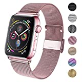 GBPOOT Compatible for Apple Watch Band 38mm 40mm 42mm 44mm, Wristband Loop Replacement Band for Iwatch Series 4,Series 3,Series 2,Series 1,Rosegold,38mm/40mm