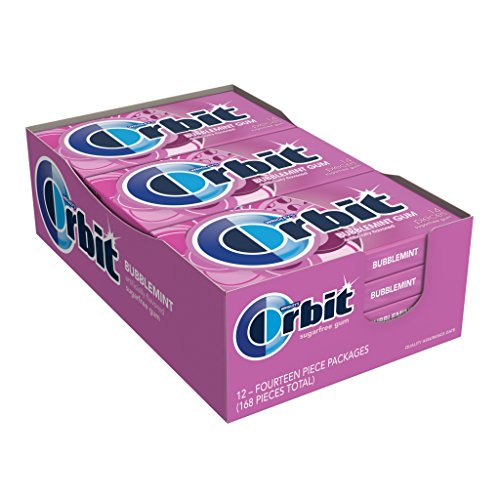 (Orbit Bubblemint Sugarfree Gum, 14 pieces, (Pack of 12))
