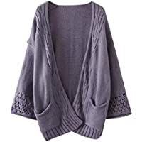 Anxinke Womens Autumn Winter Oversize Open Front Cardigan Sweaters Long Sleeve Coat