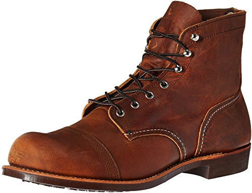 Red Wing Heritage Men's Iron Ranger Work Boot, Copper Rough and Tough, 10.5 D US