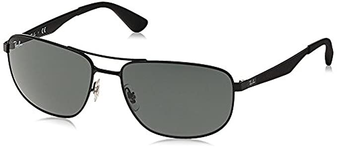 4286e233cabf8 Ray-Ban RB3528 Sunglasses Matte Black   Green 61mm   Cleaning Kit Bundle