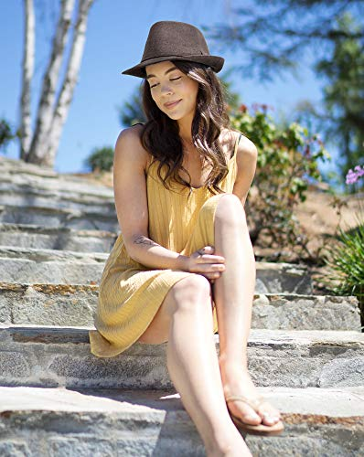 Simplicity Unisex Fedora Hats for Women Manhattan Fedora Hat, Brown by Simplicity (Image #2)